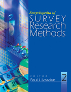 Encyclopedia of Survey Research Methods, ed. , v.