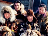 Athabaskan family with pelts from the winter catch