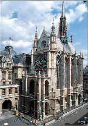 The Gothic Sainte-Chapelle church