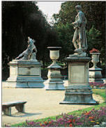 Neoclassical statues and urns in the Jardin des Tuileries