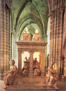 The tomb of Louis XII and Anne de Bretagne in the Basilique St-Denis