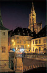Strasbourgs fine Gothic cathedral surrounded by historic buildings