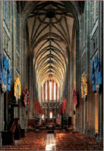 The lofty interior of the Cathdrale Sainte-Croix, Orlans