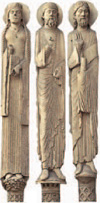 Elongated Statues - These statues on the Royal Portal represent Old Testament figures.