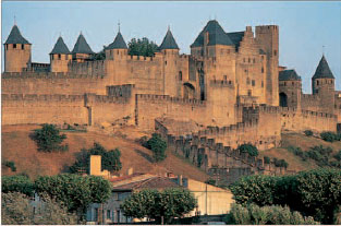 Chteau Comtal in the restored citadel of Carcassonne
