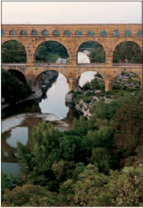 The Pont du Gard, outside Nmes, a major feat of Roman engineering