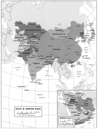 EAST  SOUTH ASIA and MIDDLE EAST