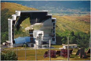 The solar furnace in Odellio, France.