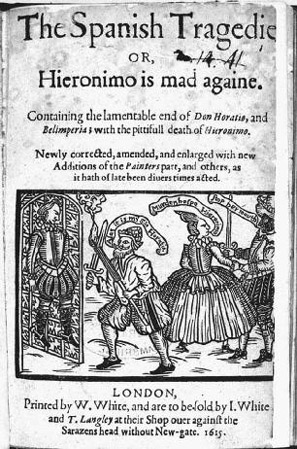 Title Page of The Spanish Tragedy by Thomas Kyd.