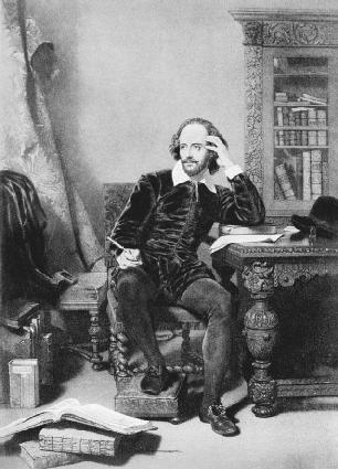 William Shakespeare at work.