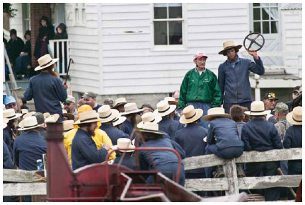 An Amish auction in Montgomery County, upstate New York.