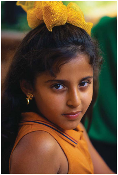 Portrait of a young Arab girl in Los Angeles, 1998.