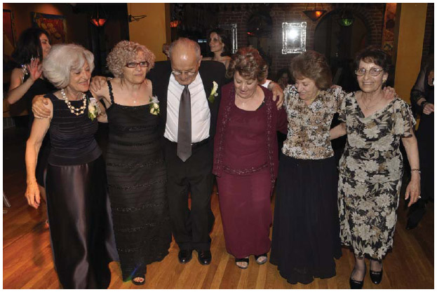 Armenian Americans dance at a wedding party in Newton, Massachusetts, in 2009.