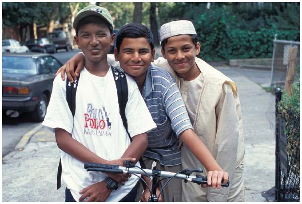 Three Bangladeshi American friends in Brooklyn, NYC.