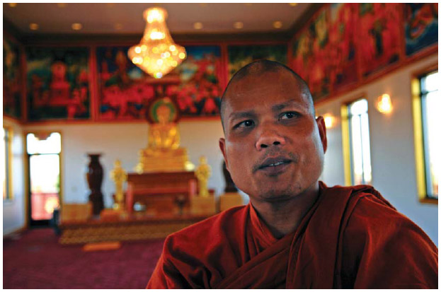 The Cambodian Buddhist Temple in Hampton, Minnesota. 2007
