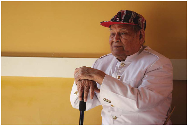 """Cambodian American Nhep Prok is a master of the Cambodian """"khimm,"""" or stringed dulcimer. He and 100 other community members participated in an event at Peralta Hacienda Historic house, titled"""