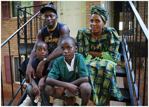 Hassan and Dawami Hadam moved to the United States, with their sons, as refugees from the Congo.