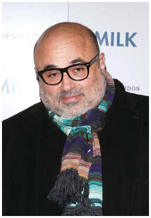 Cypriot American cinematographer Harris Savides (1957–2012) attends the Cinema Society and Details screening of Milk at the Landmark Sunshine Theater in 2008 in New York City.