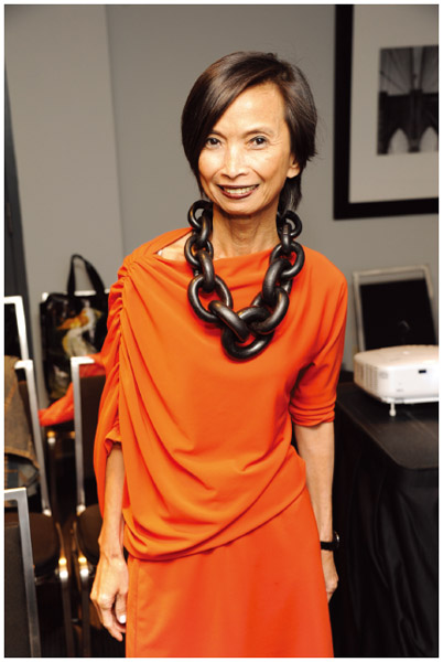 Filipino American designer Josie Natori.