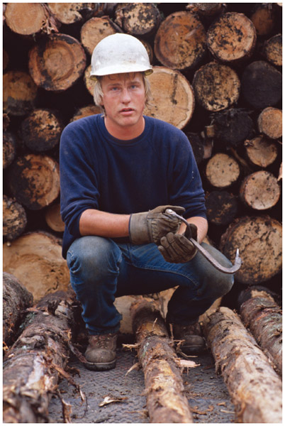 French Canadian lumberjack in the North Woods of New Hampshire.