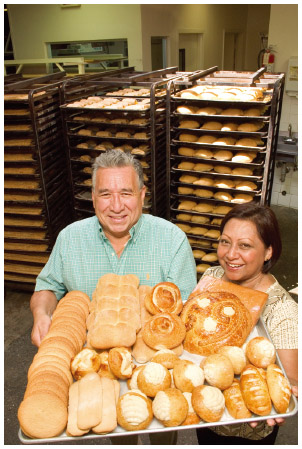Pastries from Guatemalteca Bakery in Los Angeles, California.