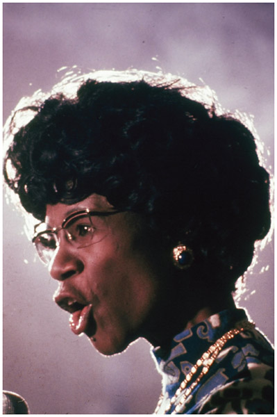 Congresswoman Shirley Chisholm (1924–2005) was the first black American elected to Congress. She was also the first woman to run for the Democratic Presidential nomination in 1972.