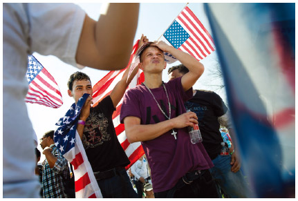 Honduran immigrants participate in a pro-immigration rally at the U.S. Capitol in Washington, D.C. in 2013. Supporters want Congress to pass a number of immigration reform laws that include a direct path to citizenship for the