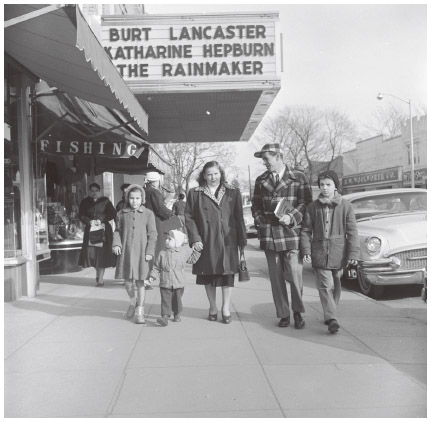 A Hungarian immigrant family out for a walk in Long Island, New York, c. 1956.