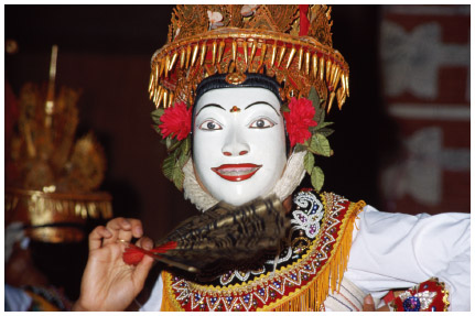 A Balinese dancer in full costume. CORBIS / DAVID CUMMING; UBIQUITOUS.