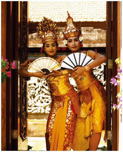 Two Balinese dancers.