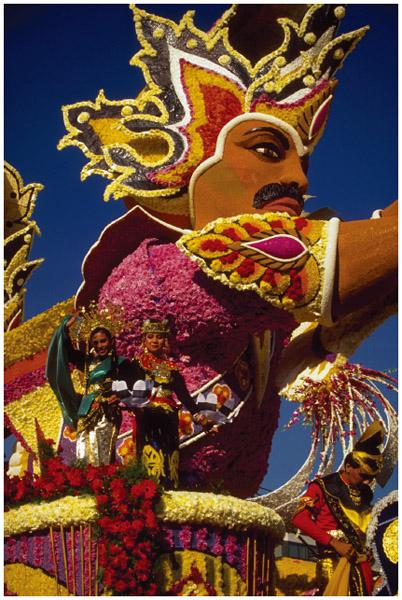 A Malaysian parade float in Pasadena, California, c. 1990.