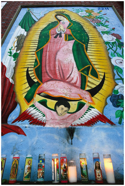 "Our Lady of Guadalupe (also called the Virgin of Guadalupe) is so revered in Mexico that she has been referred to as the ""Queen of Mexico."" Mexican Americans retain the same devotion to this religious icon."