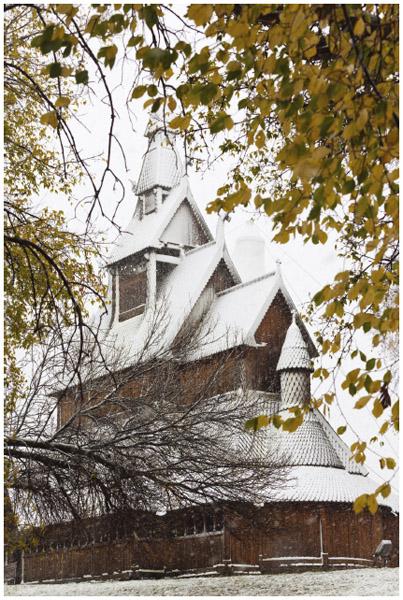Hopperstadt Norwegian Stave Church, Moorhead, Minnesota.