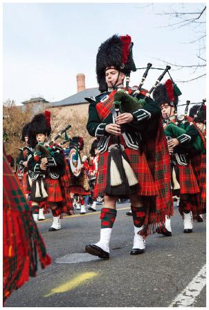 A Scottish Christmas parade.