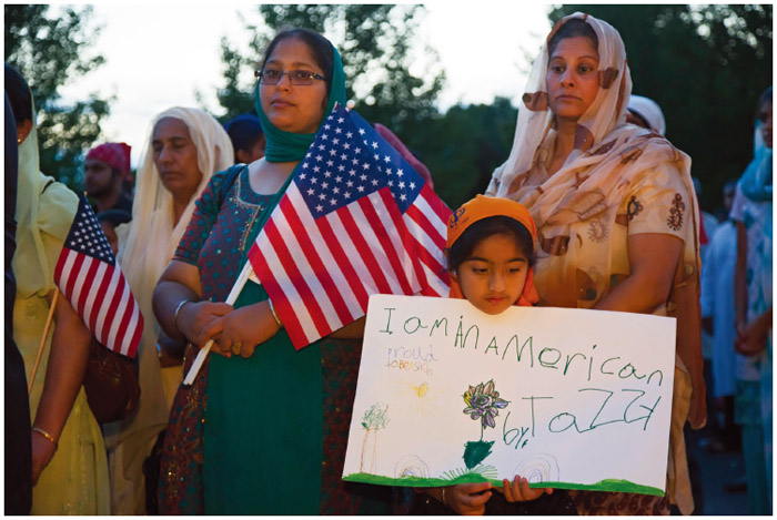 On August 5, 2012, six Sikhs were killed during a religious service at a temple near Milwaukee, Wisconsin by a white supremacist. In Plymouth, Michigan, hundreds of Detroit-area Sikhs held a memorial service and candlelight vigil at the Hidden Falls