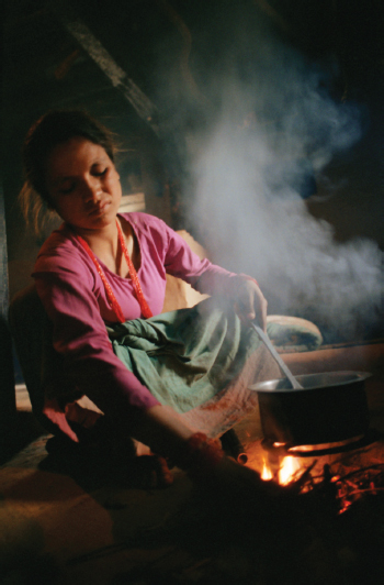 Worldwide up to three billion people rely on solid fuels (such as wood, coal, crop waste or animal dung) for indoor cooking and heating. The resulting household smoke ranks as the fourth biggest health risk in the poorest countries