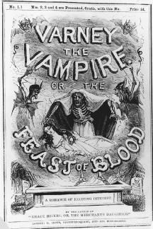 Title page of Varney the Vampire; or, The Feast of Blood.