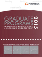 Peterson's Graduate Programs in the Biological/Biomedical Sciences & Health-Related Medical Professions 2015, ed. 49
