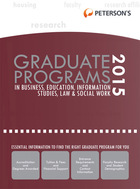 Peterson's Graduate Programs in Business, Education, Information Studies, Law & Social Work 2015, ed. 49