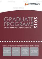 Peterson's Graduate Programs in Engineering & Applied Sciences 2015, ed. 49