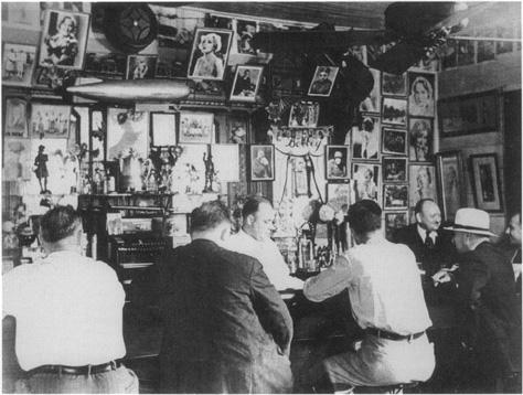 A Prohibition Era speakeasy