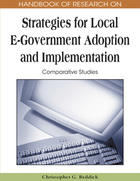 Handbook of Research on Strategies for Local E-Government Adoption and Implementation, ed. , v.