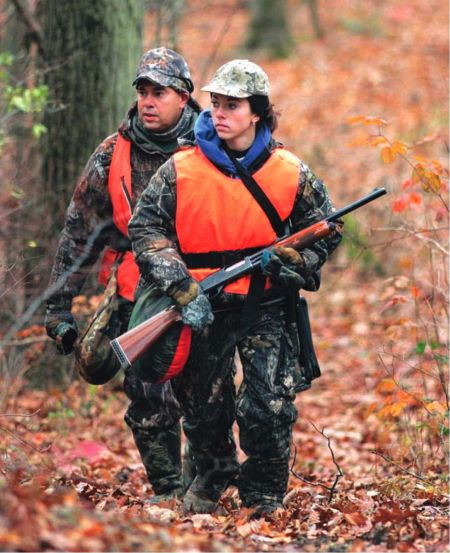 Along with hunting for food, many hunters participate in the sport because they enjoy spending time in nature with family and friends.