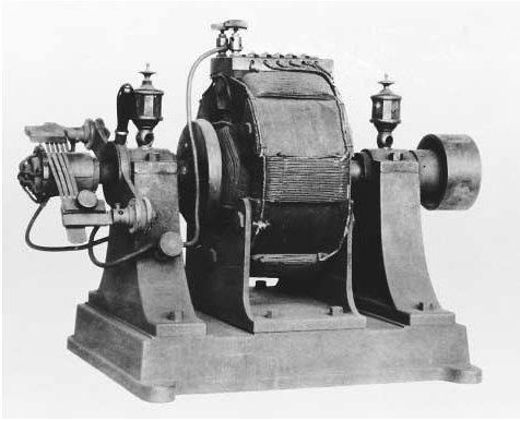 An early electric motor. As Europe shifted from an agriculturally based economy to an industrial one during the mid-eighteenth century to mid-nineteenth century, innovations in machinery supported the growth of manufacturing facilities. The ele