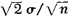 the probability that the difference is in error by more than d = 1.96