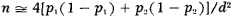 the corresponding formula for