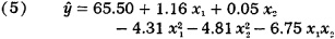 equation fitted to these observations gives