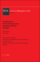 IFLA Guidelines for Online Public Access Catalogue (OPAC) Displays, ed. , v.