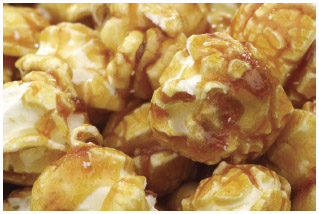 Caramel corn is a popular treat in the Midwest.