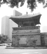 The Tongsipchagak (East Cross Tower) is a watchtower in Seoul built at the place where the outer wall of Kyongbokkung